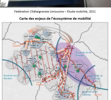 photo réunion et carte des enjeux de la mobilité sur le territoire